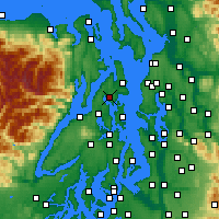 Nearby Forecast Locations - Poulsbo - Map