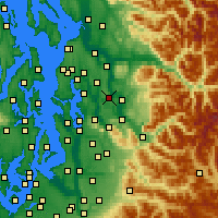 Nearby Forecast Locations - Redmond - Map