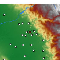 Nearby Forecast Locations - Reedley - Map