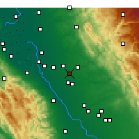 Nearby Forecast Locations - Riverbank - Map