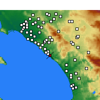Nearby Forecast Locations - San Clemente - Map