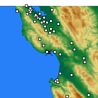 Nearby Forecast Locations - Santa Cruz - Map