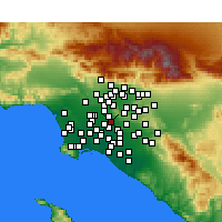 Nearby Forecast Locations - Santa Fe Springs - Map