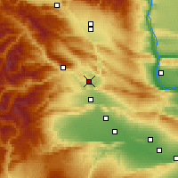 Nearby Forecast Locations - Selah - Map