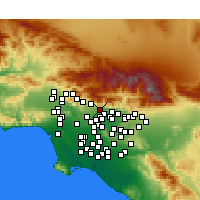 Nearby Forecast Locations - Sierra Madre - Map