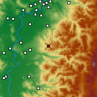 Nearby Forecast Locations - Silverton - Map