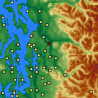 Nearby Forecast Locations - Snohomish - Map