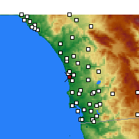 Nearby Forecast Locations - Solana Beach - Map