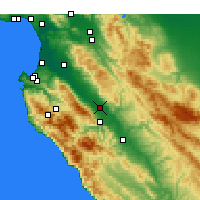 Nearby Forecast Locations - Soledad - Map