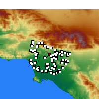 Nearby Forecast Locations - South Pasadena - Map