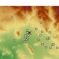Nearby Forecast Locations - Sun City - Map