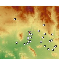 Nearby Forecast Locations - Sun City West - Map