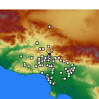 Nearby Forecast Locations - Sylmar - Map