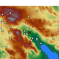 Nearby Forecast Locations - Thousand Palms - Map