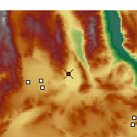 Nearby Forecast Locations - Trona - Map