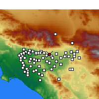 Nearby Forecast Locations - Upland - Map