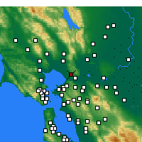 Nearby Forecast Locations - Vallejo - Map
