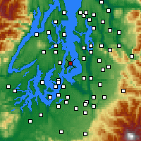 Nearby Forecast Locations - Vashon - Map