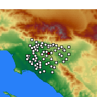 Nearby Forecast Locations - Walnut - Map