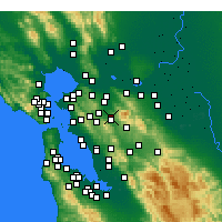Nearby Forecast Locations - Walnut Creek - Map
