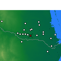 Nearby Forecast Locations - Weslaco - Map