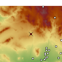 Nearby Forecast Locations - Wickenburg - Map