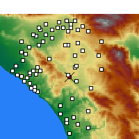 Nearby Forecast Locations - Wildomar - Map