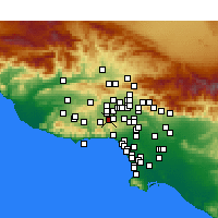Nearby Forecast Locations - Woodland Hills - Map