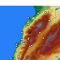 Nearby Forecast Locations - El Laqloûq - Map