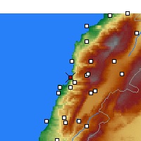 Nearby Forecast Locations - Jounieh - Map
