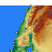 Nearby Forecast Locations - Nabatieh - Map