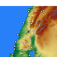 Nearby Forecast Locations - Qana - Map