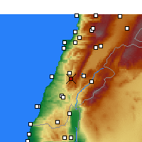 Nearby Forecast Locations - Jezzine - Map