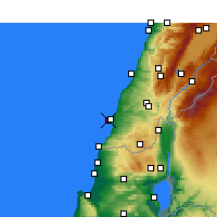 Nearby Forecast Locations - Aadloun - Map