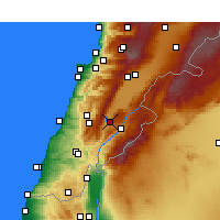 Nearby Forecast Locations - Qaraoun - Map