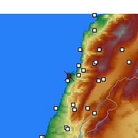 Nearby Forecast Locations - Basta el Tahta - Map