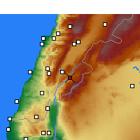 Nearby Forecast Locations - Rashaya - Map
