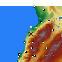 Nearby Forecast Locations - Amioun - Map