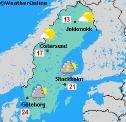 Climate Of The World Sweden Weatheronlinecouk - Sweden map hedestad